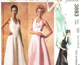 Sz 12/14/16/18 - McCall's Dress Pattern 3883 - Misses' Halter Evening Dress in Three Variations - McCall's Evening Elegance