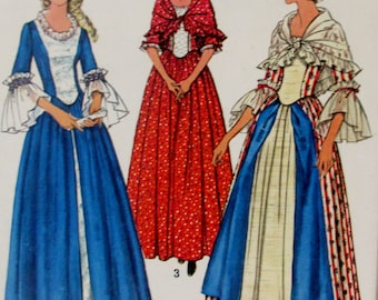 Vintage 1974 Simplicity  Misses Costume for the Bicentennial Pattern 6787 Size 14 Bust36