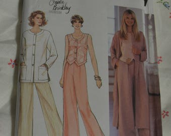 Simplicity 8912 Misses Unlined Jacket in Two Lengths and Pants Sewing Pattern - UNCUT - Size 10 12 14 16