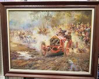 De Lamarie  Grand Prix painting