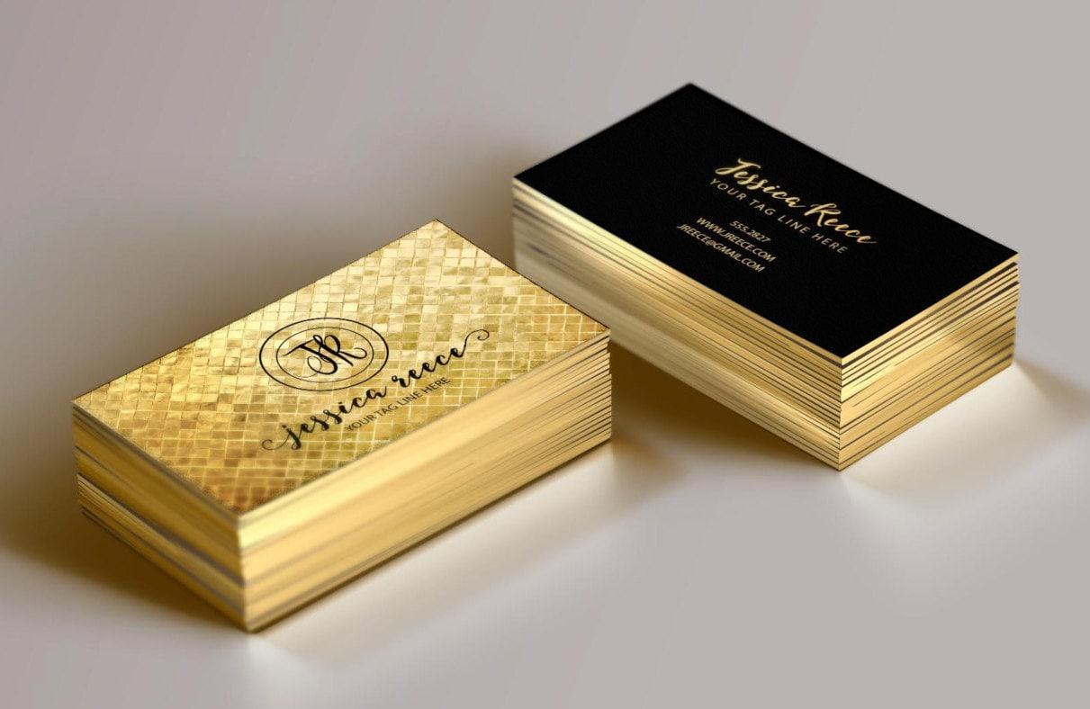 Gold Foil Business Card Event Planner Business Card Boutique