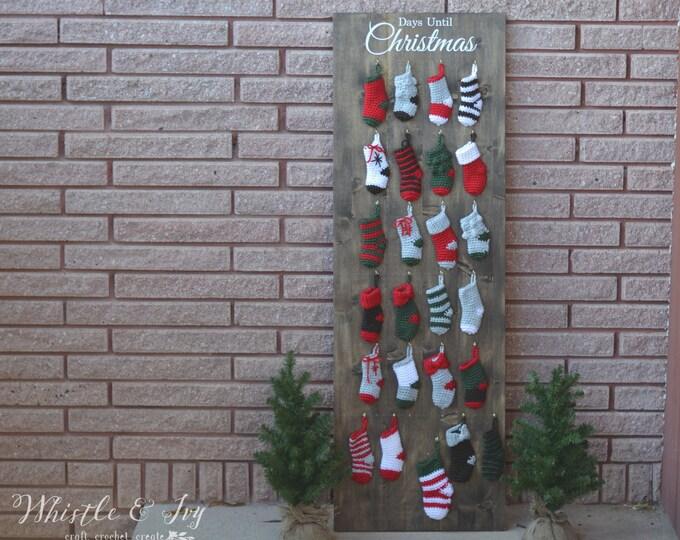 PATTERN EBOOK: Crochet Holiday Advent Mini Stocking Ebook DOWNLOAD