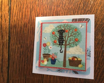 Fabric Cat Card's 3 - see variations