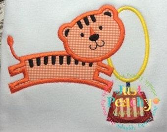 Circus Tiger Machine Embroidery Applique Designs