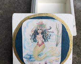 Serafina Fantasy Boho African Mermaid Art Small Box