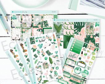 Palm Leaves Sticker Kit   Planner Stickers   Tropical Stickers for Erin Condren Life Planner   Planner Stickers   K010 Kit