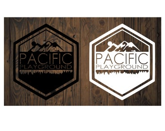 Pacific Playground PNW style decal