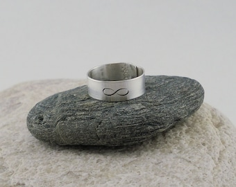 Sterling Silver Infinity Ring, Simple Silver Infinity Band, Infinity Jewelry, Unique Gift