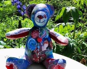 Beautifully Hand Painted Teddy Collectable
