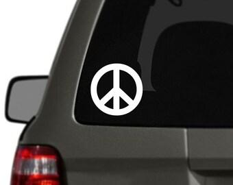 Peace Sign Vinyl Car Decal BAS-0171