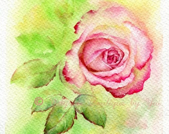 Sweet roses - ORIGINAL watercolor painting 7.5x11 inches