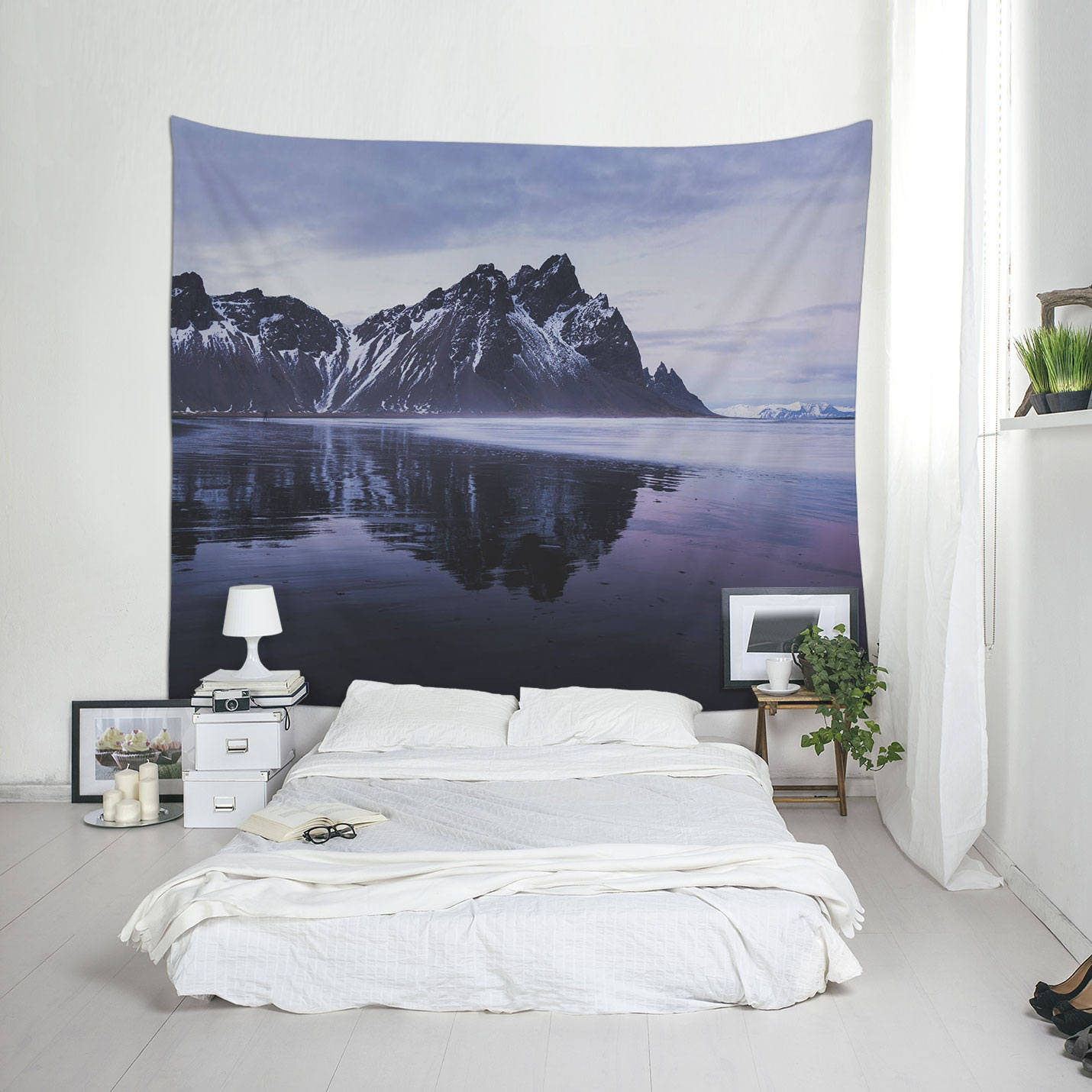 Landscape Tapestries Purple Tapestry Home Decor Iceland