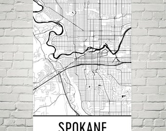 Spokane city map Etsy