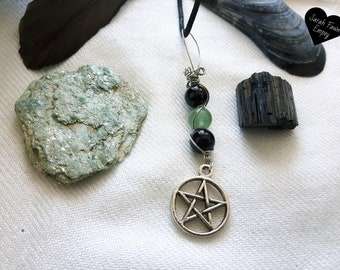 Grounding Crystal Box | Earthy Energy Crystal Box | Pentacle Necklace | Green Fuchsite | Black Tourmaline