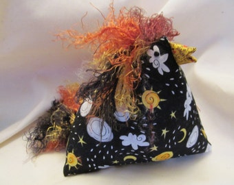 Sun and Clouds Chicken Pincushion , Sewing Tool , Sewing Aid, Sewing Box Addition, Pincushion for All, Fun Pincushion,Sewing Gift for all.