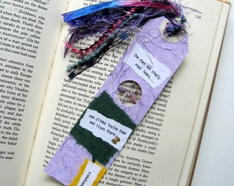 One does not simply - Earth Bookmark - handmade paper, pressed flower, gypsophila, book lover, reader, librarian, teacher gift, graduation