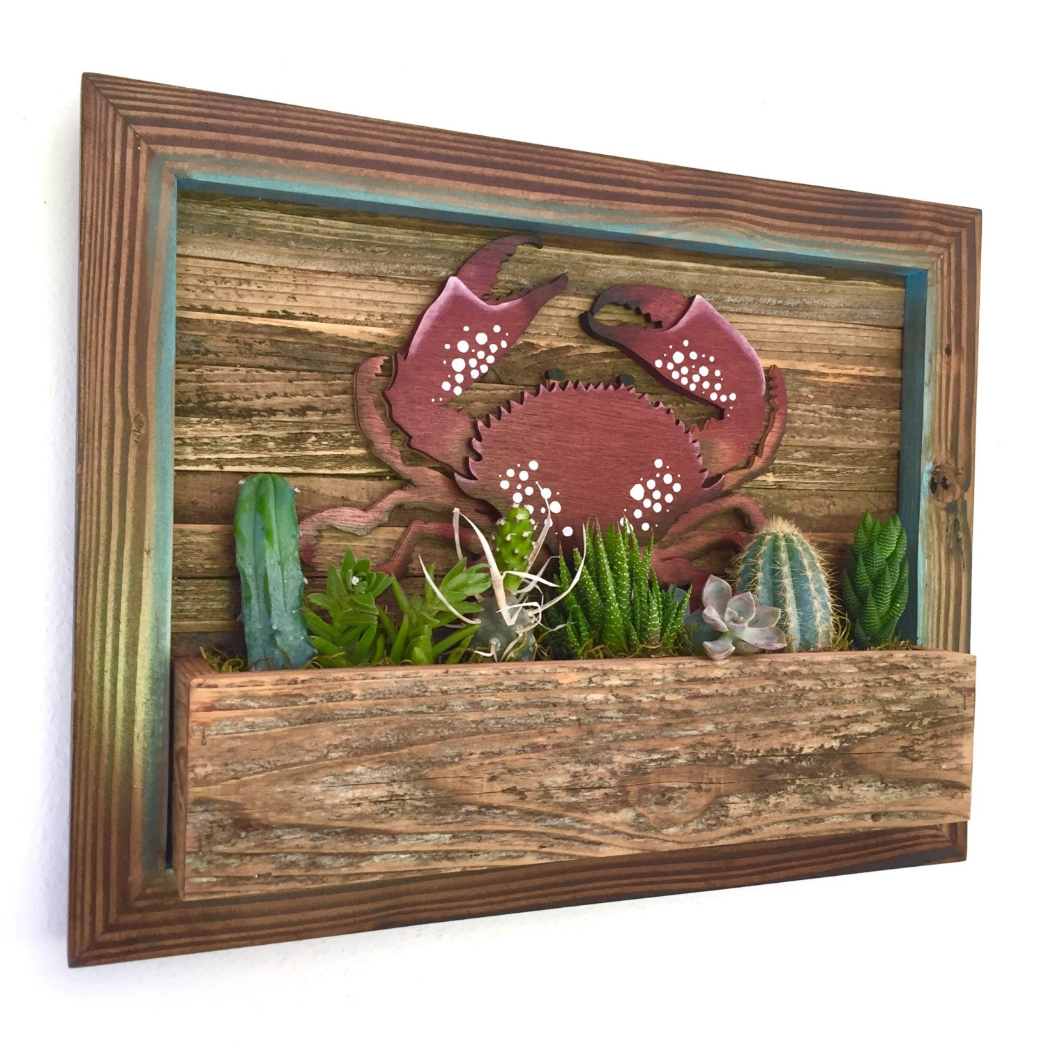 FATHERS DAY GIFT: Crab Vertical Garden Vertical Planter