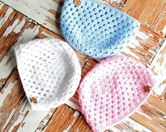 Cluster Newborn Hat   Crochet Hat Pattern   Newborn Hat Crochet Pattern   Crochet Baby Cluster Hat Pattern   Crochet Pattern   PDF Pattern
