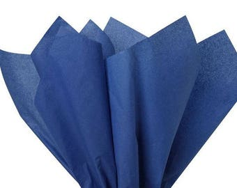 """DARK BLUE Tissue Paper for Gift Wrapping 20""""x26"""" Solid Sheets, (Your Choice of Quantity) Free Shipping!"""