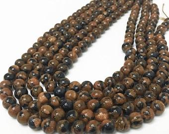 8mm Gold Sandstone Beads, Round Gemstone Beads, Wholesale Beads