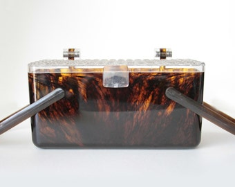 Tortoise Shell Lucite Purse