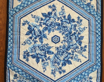 Blue and White Table Runner