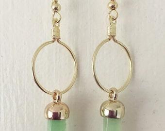 Acrylic Jade Dangle Earring