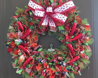 Red Chili Pepper Wreath