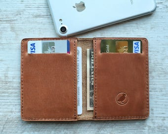 front pocket wallet mens wallet leather bifold wallet leather card holder personalized wallet leather card case minimalist wallet small
