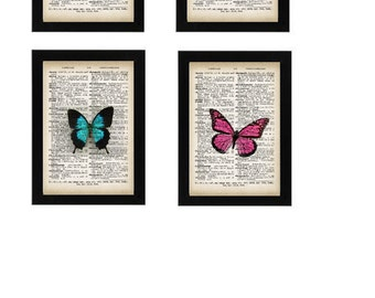 4 - Magnificent Upcycled Vintage Butterfly Prints