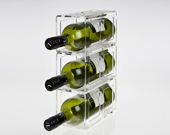 Acrylic Perspex Wine Rack - Stacking Design | Premium acrylic | Made in the UK