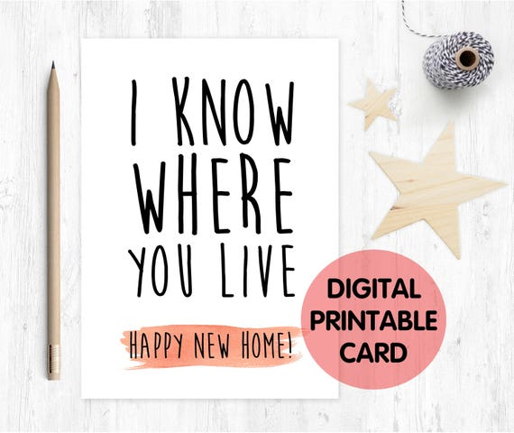funny new house card, funny moving house card, funny new home card, new home card, new house card, moving home card, moving house card, rude