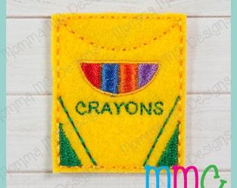 Crayon Box Felt Feltie Embroidery Design