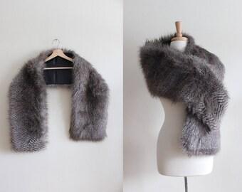 Vintage 1990s Faux Fur Stole