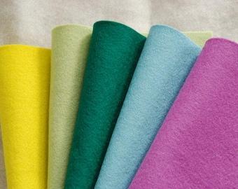 WOOL FELT SPRING ~ 100% Pure Wool Felt to Oeko-tex standard and safe for babies ~ 1-1.2mm felt sheets