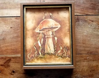 Surrealist Painting by Shirley, Mid Century Art, Shirley Artist, Original Art, Original Painting