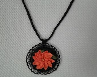 Handmade Needle Necklace