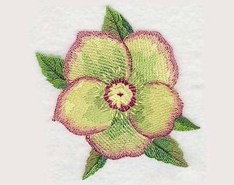 Lenten Rose Bloom Tea Towel   Personalized Kitchen   Embroidered Kitchen Towel   Embroidered Towel   Kitchen Towel   Hand Towel
