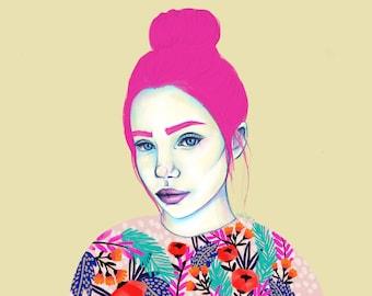 Poppy - Portrait Artwork Print