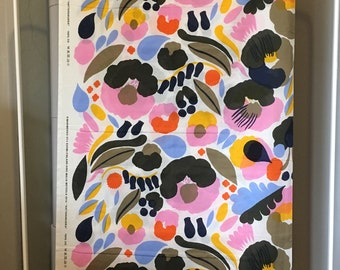 "Marimekko light fabric piece ""Hattarakukka """