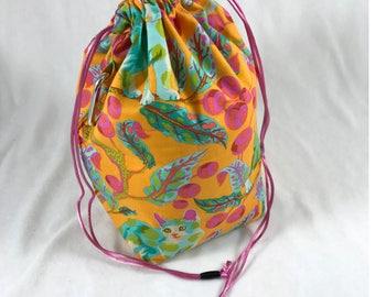 Tabby Road - Orange - Little Project Bag