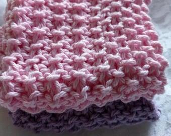Cotton Knit Washcloths - Facecloths