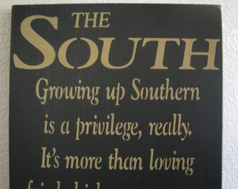 The South Handcrafted Wooden Sign
