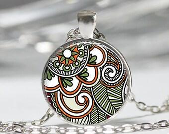 Modern Art Glass cabochon necklace