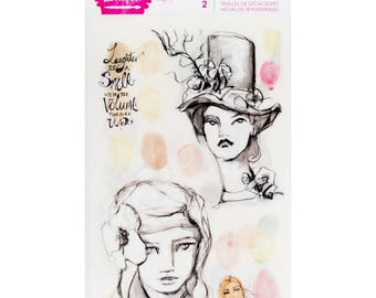 Neutrals Rub-Ons Stickers by Jane Davenport Mixed Media - 2/Pkg - Neutrals