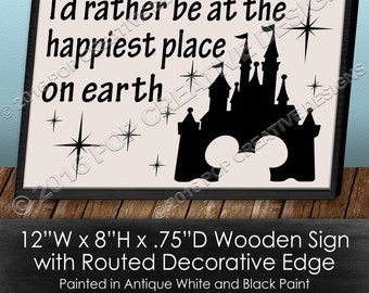 Happiest Place Wooden Sign