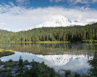 Mt. Rainier Reflection Lake - Multiple Print Sizes Available