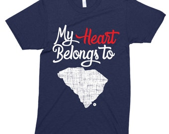 SOUTH CAROLINA Home State  My Heart Belongs To Southern T-Shirt