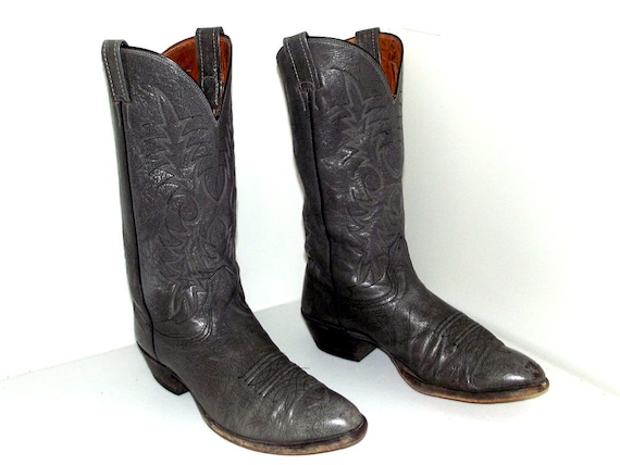 or brand Grey size cowgirl 5 9 size 11 boots D cowboy Nocona Leather nnWaFHqfz