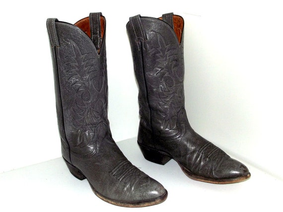 cowgirl size brand Leather D cowboy size 5 Grey boots 11 9 Nocona or xaTqXfwv